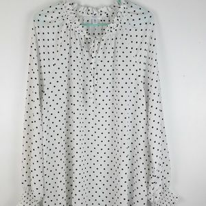Time and Tru winter white black polka dot size XXL